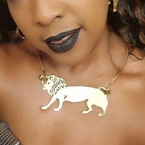 Gold Lion Shaped Choker